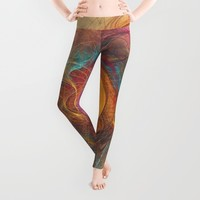 Sun fractal Art Leggings by Jbjart | Society6