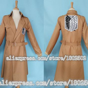 Cool Attack on Titan Japanese Anime no   Cosplay Costume Dust Coat AT_90_11