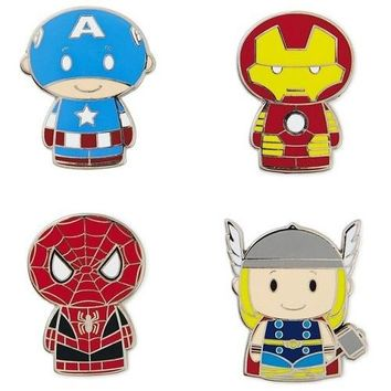 itty bittys MARVEL Super Heroes Collectible Enamel Pins, Set of 4
