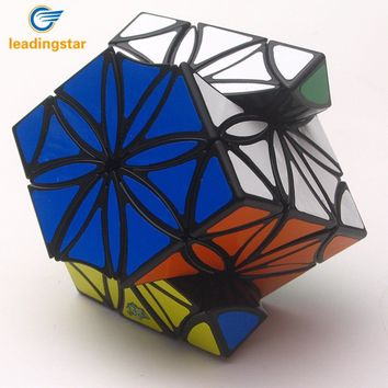 LeadingStar Petal Shaped Magic Cube with Sticker Brain Teaser Skewb Cube Puzzle Toy for Beginners Gifts zk30