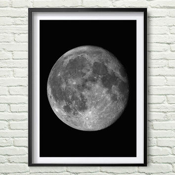 Photo art decor, Moon, Instant download. Digital Print. Wall Decor. Poster Digital Art. Moon Home wall Art. Home Decor *60*