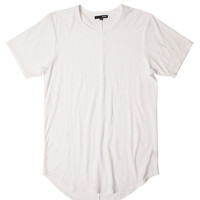 Premium Curved Hem Tall Tee in White