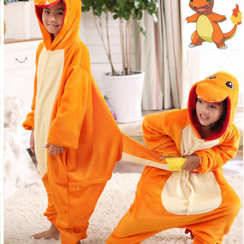Pokemon Charmander Cosplay Jumpsuit Costume For Children