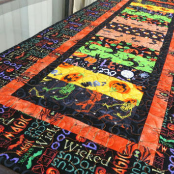 Quilted Halloween Table Runner Quilt Hocus Pocus 643