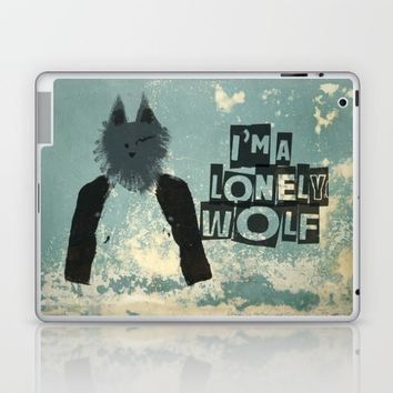 I'm a lonely wolf Laptop & iPad Skin by Easyposters