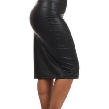High waist Skirt women Plus size 2xl 3xl sexy Pencil skirts lady fashion red black faux leather skirt  girl party casual skirts
