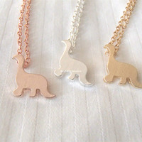 Dinosaur Necklace - 3 colors available (gold, rose gold and silver) - dainty, cute and lovely pendant jewelry;animal necklace