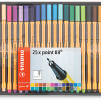 21859-1025 - Stabilo Point 88 Fineliner Pens - BLICK art materials