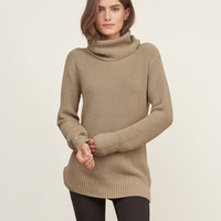 Shaker Stitch Turtleneck Sweater