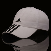 Trendy Adidas Embroidered White Cotton Baseball Adjustable Cap