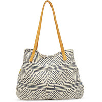 JOYN Navy Triangles Satchel