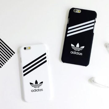 Fashion sports whiet and black phone case for iphone 4 4s 5 5s 6 6s 6plus 6s plus 7 7plus