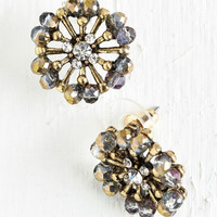 Luxe Finish with a Flourish Earrings by ModCloth