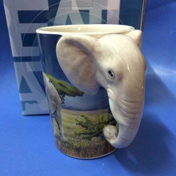 Elephant Head Coffee Mug