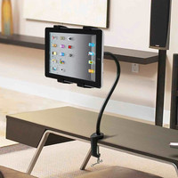 360° Rotating Gooseneck Bed Table Desk Mount Holder Stand for Samsung GALAXY Note iPad 1 2 3 4 5 & Mini Air (Color: Black) = 1845641540