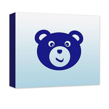 Teddy Bear I Children's Canvas Wall Art