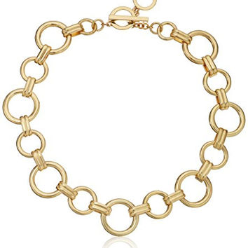 "Anne Klein ""Metal Meaning"" Gold-Tone Open Circle All Around Collar Necklace, 18"""