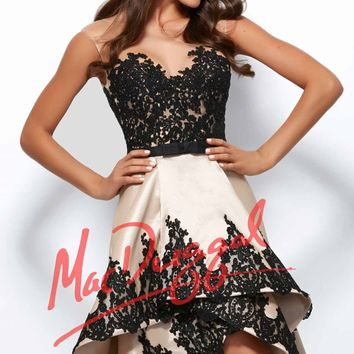 Mac Duggal Black White Red 61993R Dress