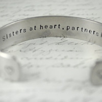 Sisters At Heart Partners In Crime Secret Message by BerkeyDesigns