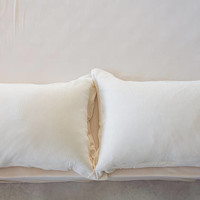 Unisex sheet Twin Queen or King Fitted Sheet ivory Jersey Cotton Bedding  Gift