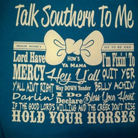 Southern Chics Funny Talk Southern to Me Bow Comfort Colors Girlie Bright T Shirt