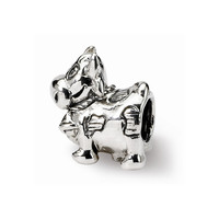 Sterling Silver Reflections Kids Cow w/ Bell Bead