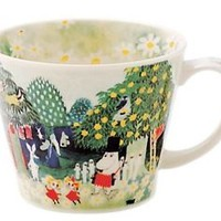 New Made in Japan Moomin Valley New Born Soup Mug Water Color Japan Seller