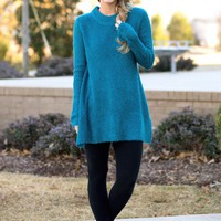 Don't You Remember Sweater in Teal | Monday Dress Boutique