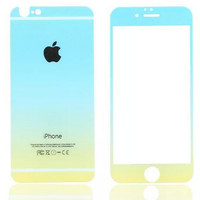 Sky Blue Gradient Toughened Glass Screen Protector for iPhone 6s 6plus Gift