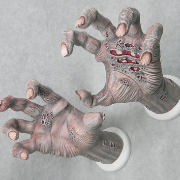 ZOMBIE HAND. Guitar Hanger. Display Wall Mount / Hook: Clothes, Jewlery, Towel Rack...