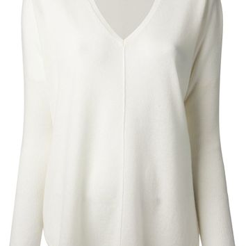 Vince front seam cashmere sweater