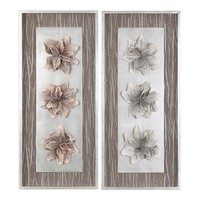 Adrienn Floral Shadow Boxes - Set Of 2 by Uttermost