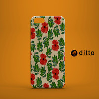 PRETTY RED FLOWERS Design Custom Case by ditto! for iPhone 6 6 Plus iPhone 5 5s 5c iPhone 4 4s Samsung Galaxy s3 s4 & s5 and Note 2 3 4