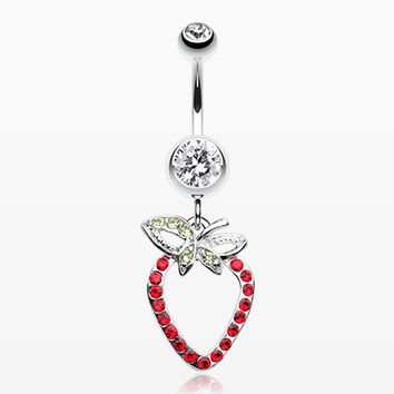 Dazzle Berry Belly Button Ring