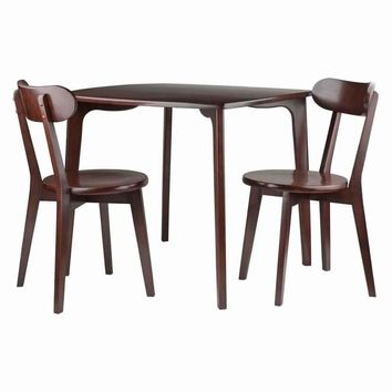 Pauline 3-PC Set Dining Table with 2 Chairs