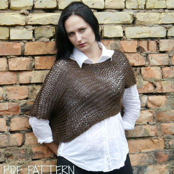 KNITTING PATTERN - Asymmetrical Sweater PDF Pattern