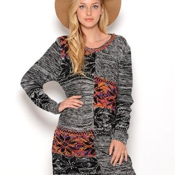 My Beloved.. Long Sleeve Sweater Dress