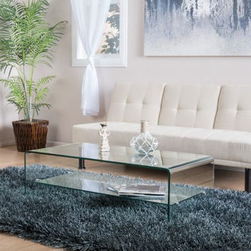 Noble House Coffee Table with Shelf