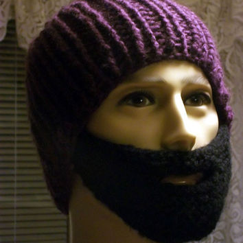 Bearded Beanie Purple