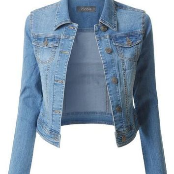 (pre-order) Light Wash Faded Denim Jacket