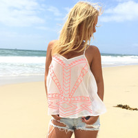 Unearthed Neon Embroider Tank