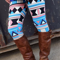 Geometric Print Legging | The Rage