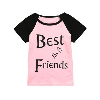 Best Friends Top Black and Pink