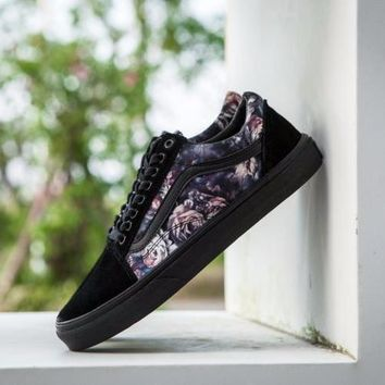 Vans Unisex Old Skool Rose Flower Print Sneakers LV