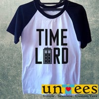 Doctor Who Tardis Doctor Who Time Lord Short Raglan Sleeves T-shirt