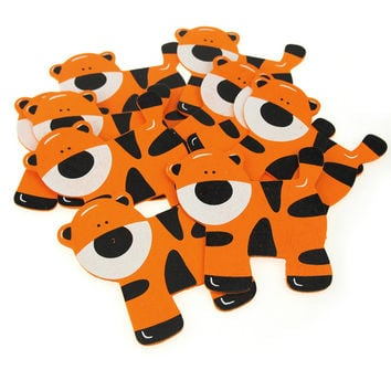 Animal Wooden Baby Favors, 4-1/2-inch, 10-pack, Tiger