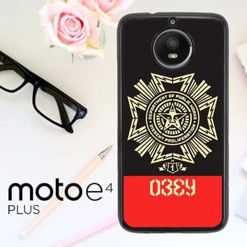 Obey Clothing O0726 Motorola Moto E4 Plus Case
