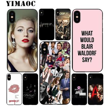 YIMAOC Pretty Little Liars TV Soft TPU Black Silicone Case for iPhone X or 10 8 7 6 6S Plus 5 5S SE Xr Xs Max
