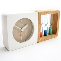 Three Color Hourglass Alarm Clock - Unique accessories for the home and office