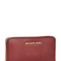 Women's MICHAEL Michael Kors 'Large Jet Set' Saffiano Leather Phone Wristlet
